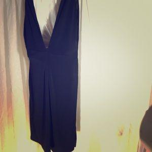 BCBG classy backless black dress size M